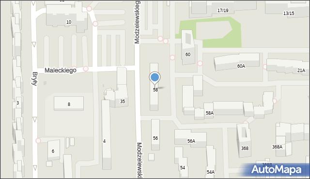 Warszawa, Kaczmarskiego Jacka, 58, mapa Warszawy