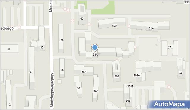 Warszawa, Kaczmarskiego Jacka, 58A, mapa Warszawy