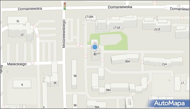 Warszawa, Kaczmarskiego Jacka, 60, mapa Warszawy