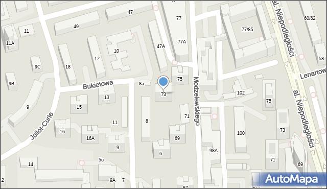 Warszawa, Kaczmarskiego Jacka, 73, mapa Warszawy