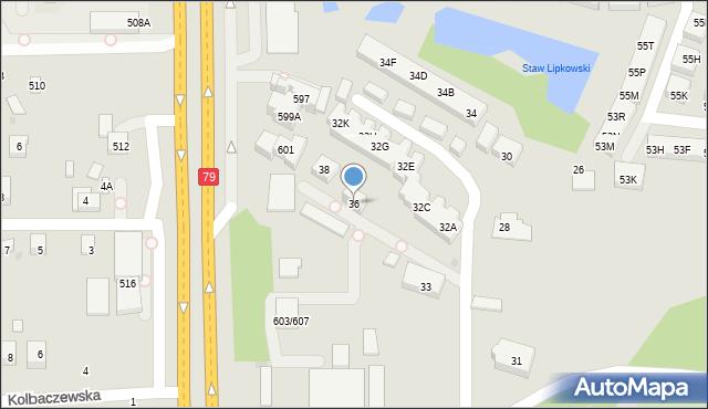 Warszawa, Karmazynowa, 36, mapa Warszawy