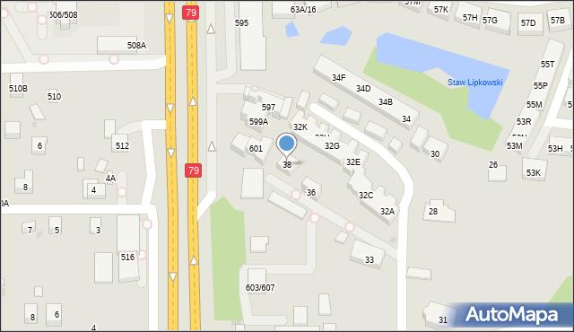 Warszawa, Karmazynowa, 38, mapa Warszawy