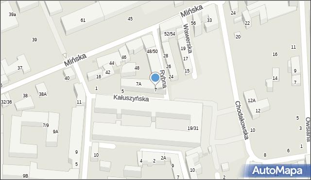 Warszawa, Kałuszyńska, 7, mapa Warszawy