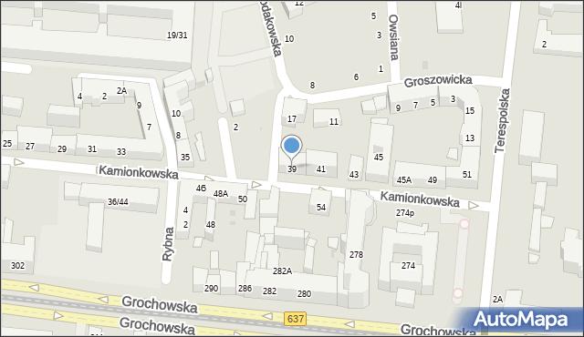 Warszawa, Kamionkowska, 39, mapa Warszawy