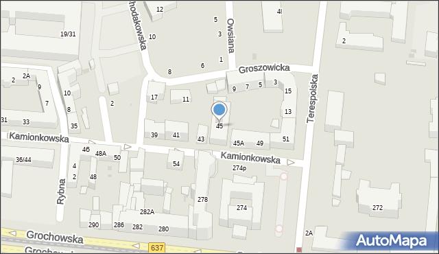 Warszawa, Kamionkowska, 45, mapa Warszawy