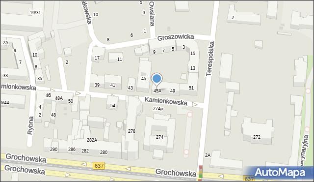 Warszawa, Kamionkowska, 45A, mapa Warszawy