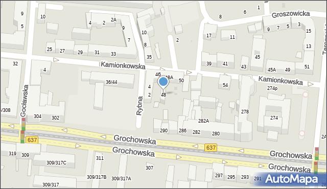 Warszawa, Kamionkowska, 48, mapa Warszawy