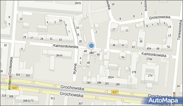 Warszawa, Kamionkowska, 48A, mapa Warszawy