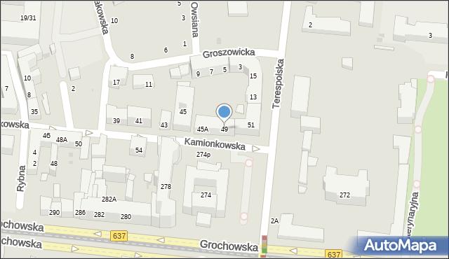 Warszawa, Kamionkowska, 49, mapa Warszawy