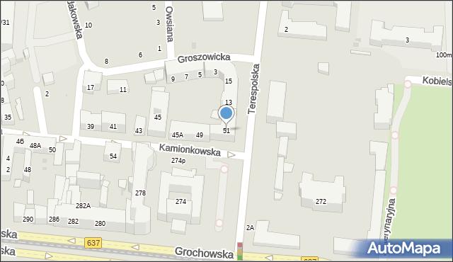 Warszawa, Kamionkowska, 51, mapa Warszawy
