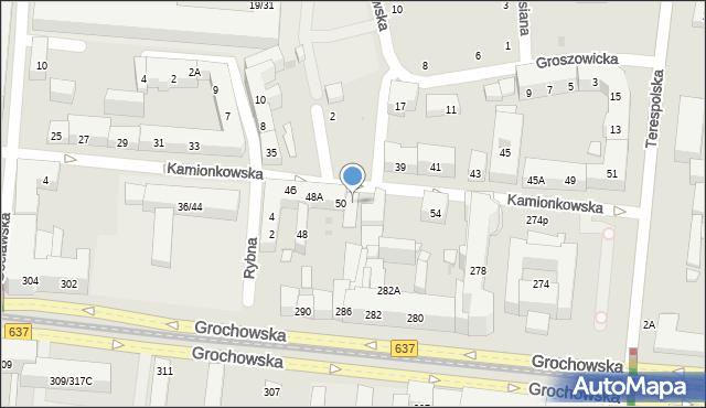 Warszawa, Kamionkowska, 52, mapa Warszawy