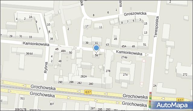 Warszawa, Kamionkowska, 54, mapa Warszawy