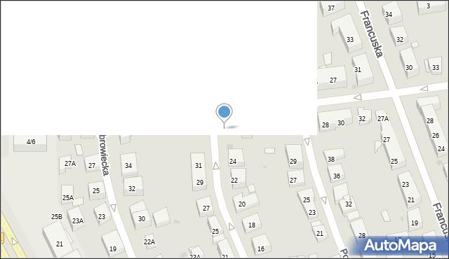 Warszawa, Katowicka, 26, mapa Warszawy