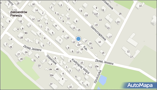 Warszawa, Kalinowa, 14, mapa Warszawy