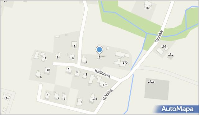 Wieprz, Kalinowa, 1, mapa Wieprz