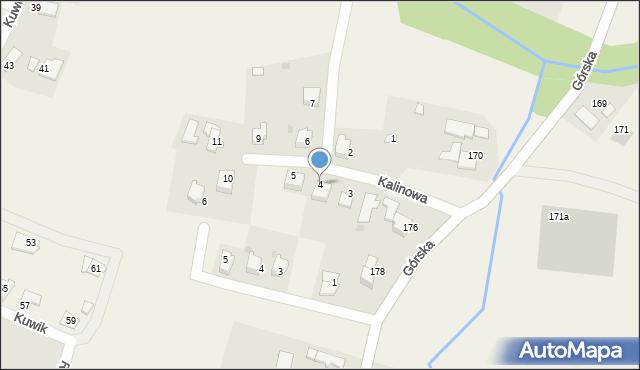 Wieprz, Kalinowa, 4, mapa Wieprz