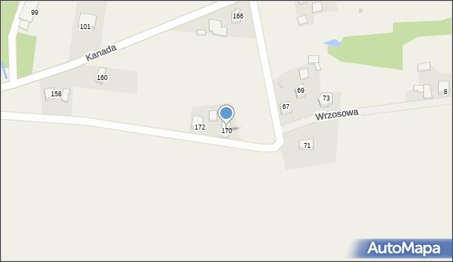 Witkowice, Kanada, 170, mapa Witkowice