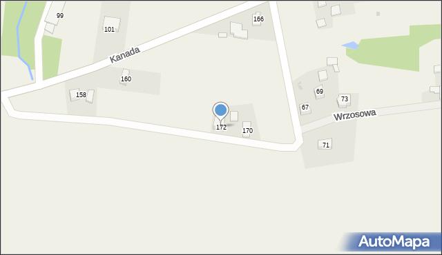 Witkowice, Kanada, 172, mapa Witkowice