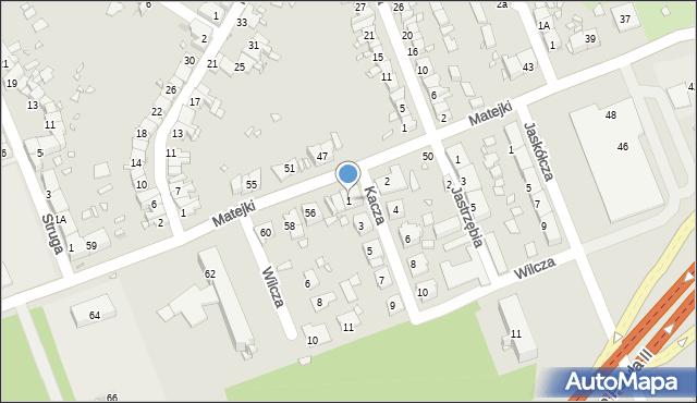 Zabrze, Kacza, 1, mapa Zabrza