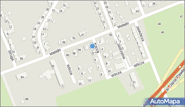 Zabrze, Kacza, 3, mapa Zabrza