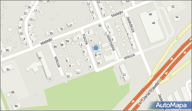 Zabrze, Kacza, 8, mapa Zabrza