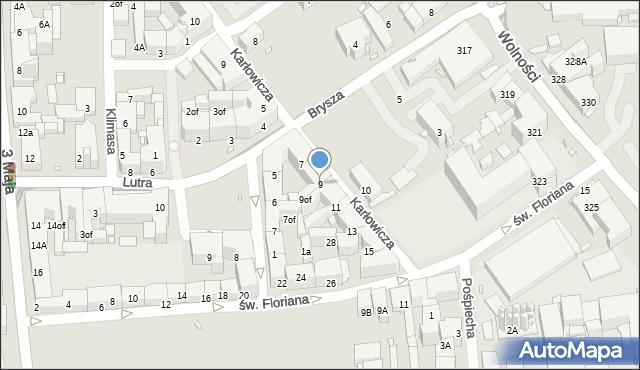 Zabrze, Karłowicza Jana, 9, mapa Zabrza