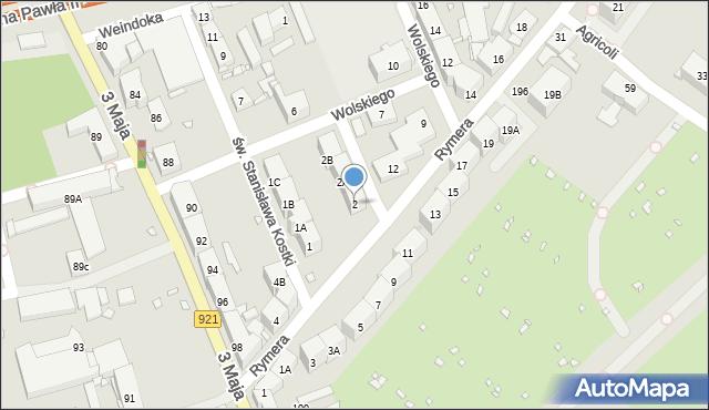 Zabrze, Kaźni Oświęcimskiej, 2, mapa Zabrza