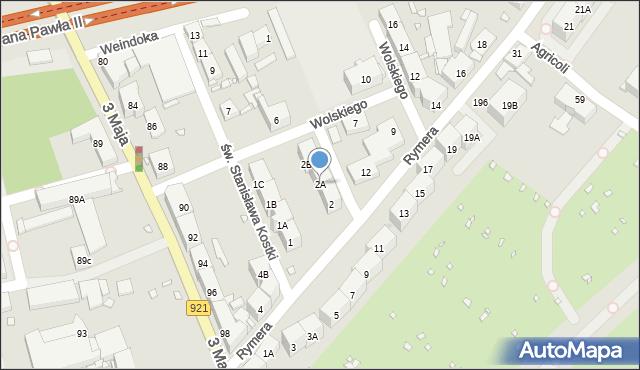 Zabrze, Kaźni Oświęcimskiej, 2A, mapa Zabrza