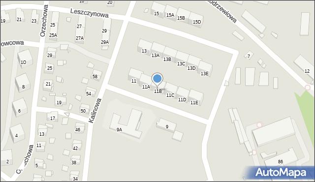 Zabrze, Kalinowa, 11B, mapa Zabrza
