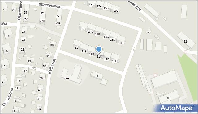 Zabrze, Kalinowa, 11C, mapa Zabrza