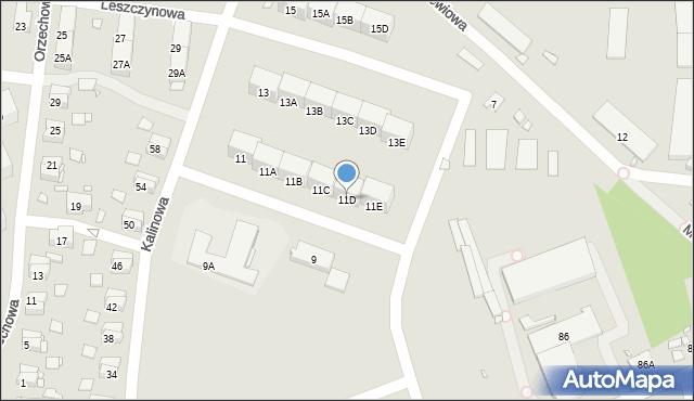 Zabrze, Kalinowa, 11D, mapa Zabrza