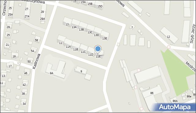 Zabrze, Kalinowa, 11E, mapa Zabrza