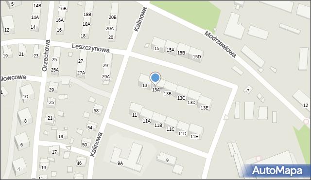 Zabrze, Kalinowa, 13A, mapa Zabrza