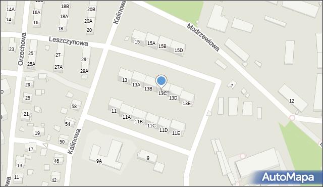 Zabrze, Kalinowa, 13C, mapa Zabrza