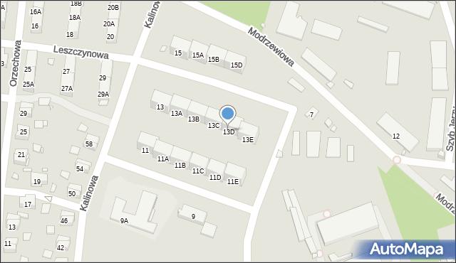Zabrze, Kalinowa, 13D, mapa Zabrza