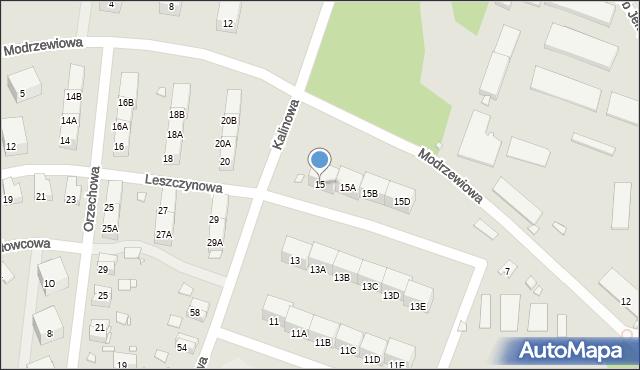 Zabrze, Kalinowa, 15, mapa Zabrza