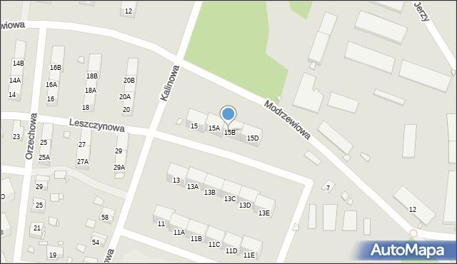 Zabrze, Kalinowa, 15B, mapa Zabrza