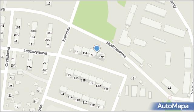 Zabrze, Kalinowa, 15C, mapa Zabrza