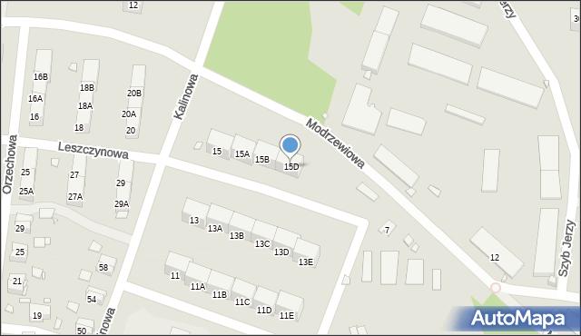 Zabrze, Kalinowa, 15D, mapa Zabrza