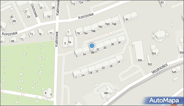Zabrze, Kalinowa, 3B, mapa Zabrza