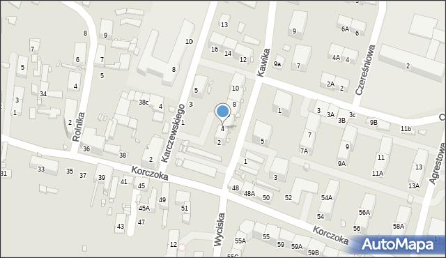Zabrze, Kawika Adama, 4, mapa Zabrza