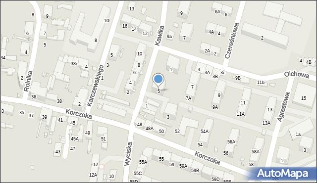 Zabrze, Kawika Adama, 5, mapa Zabrza