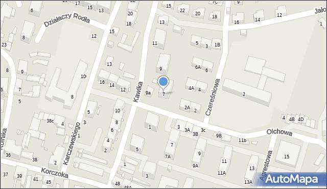 Zabrze, Kawika Adama, 7, mapa Zabrza