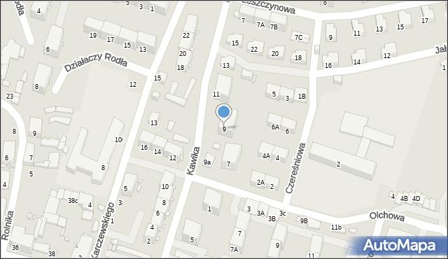 Zabrze, Kawika Adama, 9, mapa Zabrza