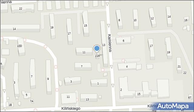 Zamość, Kamienna, 11A, mapa Zamościa