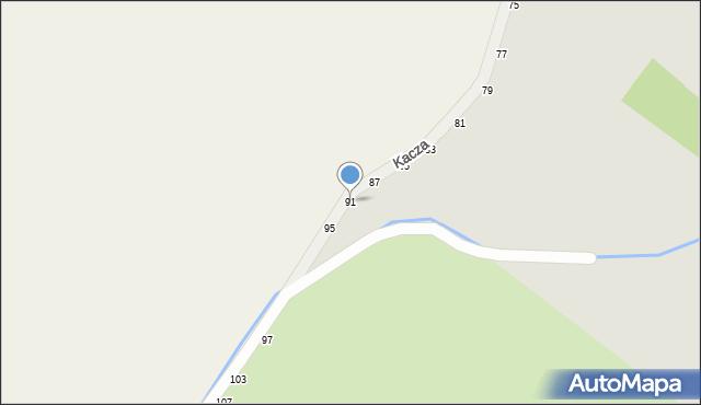 Zduńska Wola, Kacza, 91, mapa Zduńska Wola