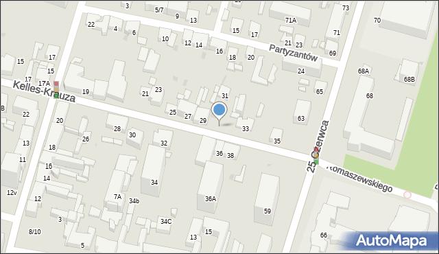 Radom, Kelles-Krauza Kazimierza, 36i, mapa Radomia