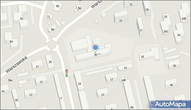 Warszawa, Keniga Mariana, 20, mapa Warszawy