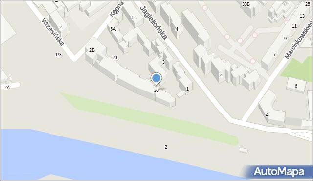Warszawa, Kępna, 26, mapa Warszawy