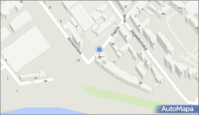 Warszawa, Kępna, 2B, mapa Warszawy